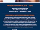 Free Seminar – December 8th – High Blood Pressure